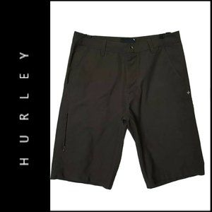 Hurley Phantom Men Flat Front Short Brown Size 31